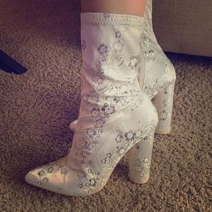 Party glitter sock booties